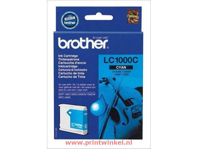 Inkcartridge Brother LC-1000C blauw