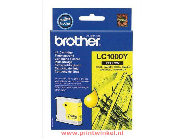 Inkcartridge Brother LC-1000Y geel