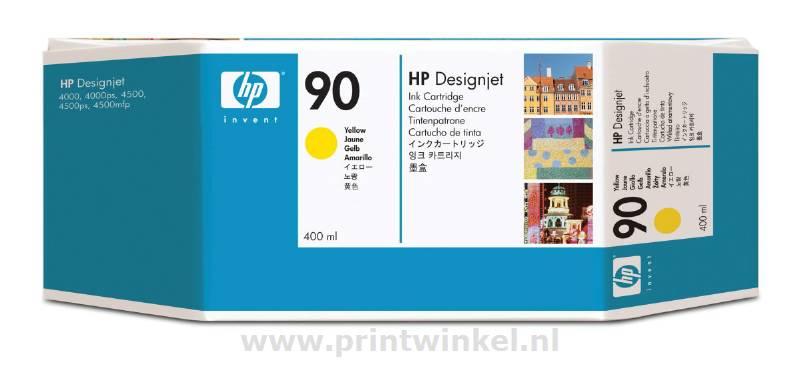 INKCARTRIDGE HP 90 C5065A GEEL