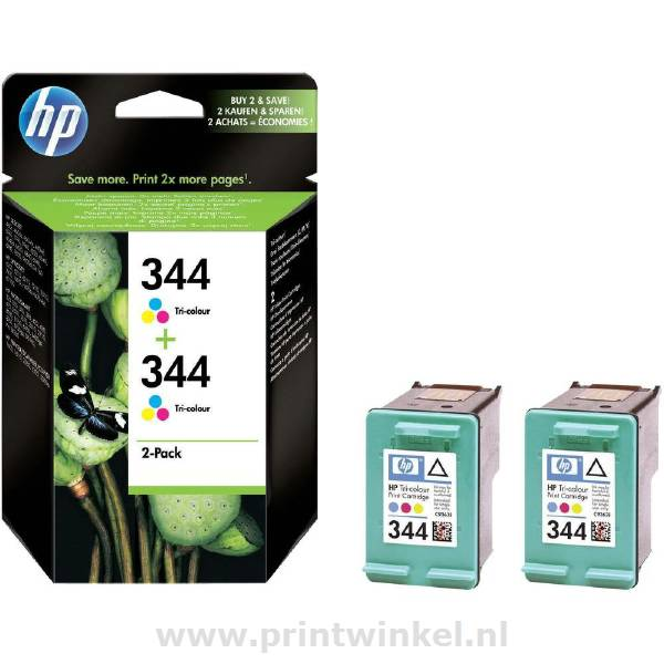 344 Ink Tri-Colour, 2-pack