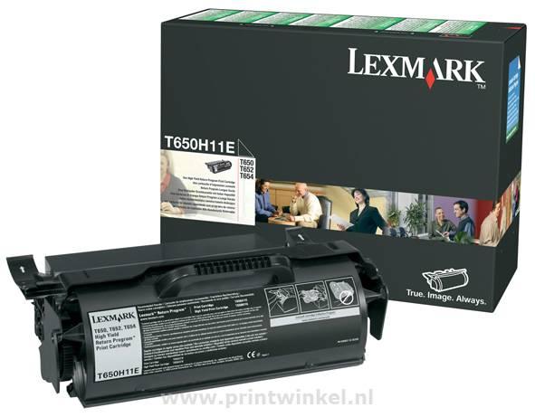 TONERCARTRIDGE LEXMARK T650H11E PREBATE 25K ZWART