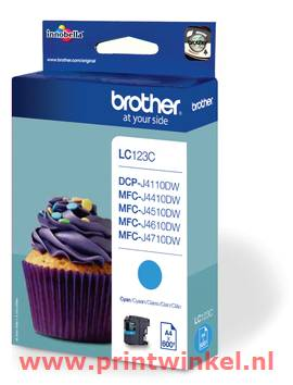 Inkcartridge Brother LC-123C blauw