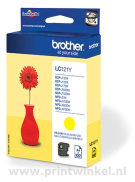 Inkcartridge Brother LC-121Y geel