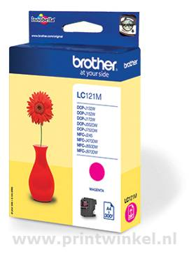 Inkcartridge Brother LC-121M rood