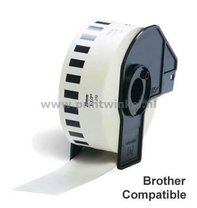 Etiket Brother DK-22210 29mm thermisch 30-meter wit papier