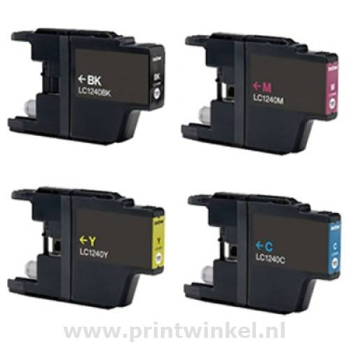 B67 compatible Brother LC-1220/1240 multipack 4 kleuren (eigen merk)
