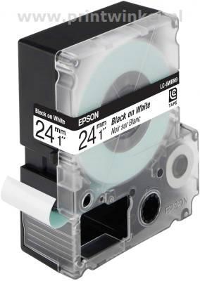 Epson standaardtape breedte 24 mm zwart-wit
